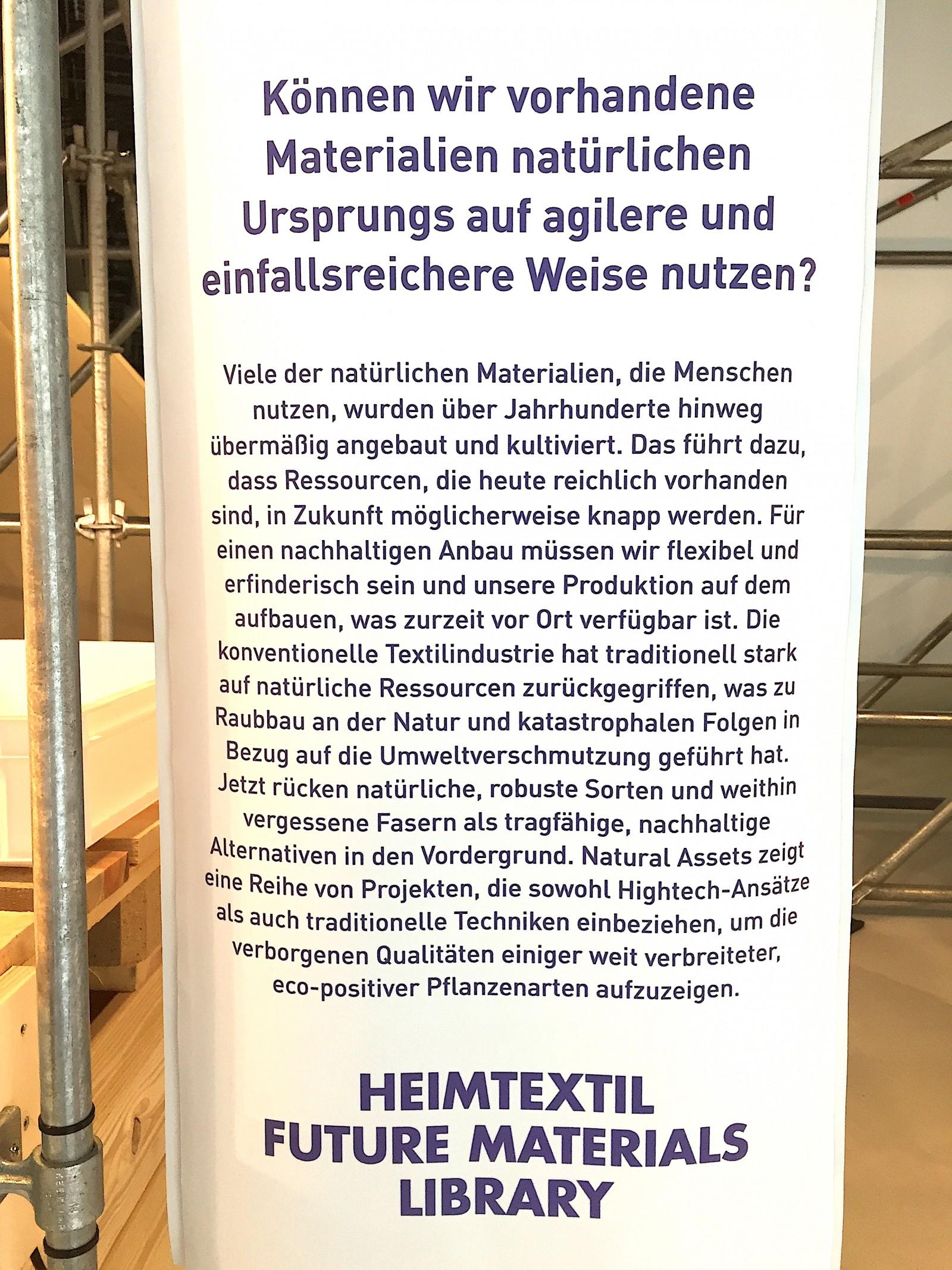 Heimtextil - Materialien der Zukunft
